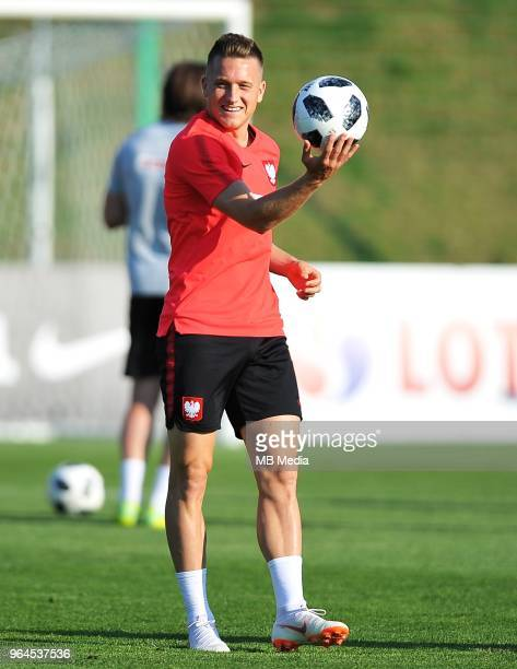 Piotr Zielinski during a training session of the Polish national team at Arlamow Hotel during the second phase of preparation for the 2018 FIFA World...