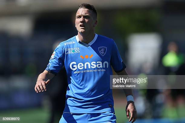Piotr Zielinski of Empoli FC looks on during the Serie A match between Empoli FC and Bologna FC at Stadio Carlo Castellani on May 1 2016 in Empoli...
