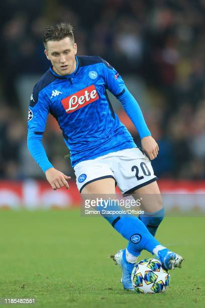 Piotr Zielinski of Napoli in action during the UEFA Champions League group E match between Liverpool FC and SSC Napoli at Anfield on November 27 2019...