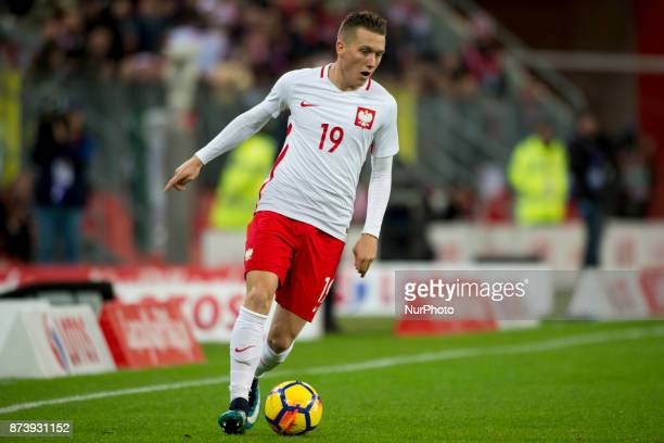 Piotr Zielinski of Poland controls the ball during the International Friendly match between Poland and Mexico at Energa Stadium in Gdansk Poland on...