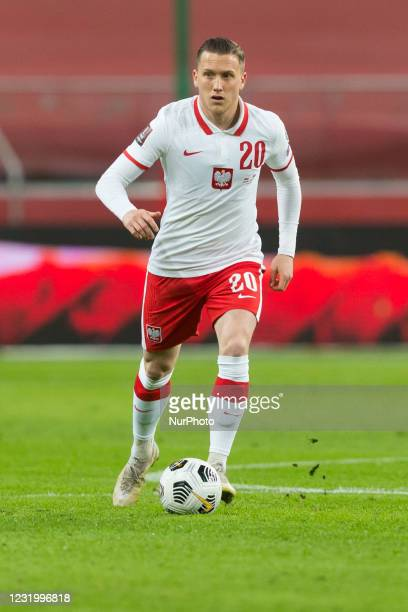 Piotr Zielinski of Poland during the FIFA World Cup 2022 Qatar qualifying match between Poland and Andorra on March 28, 2021 in Warsaw, Poland.