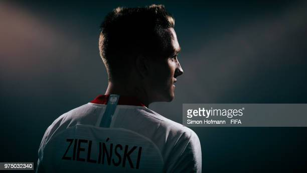 Piotr Zielinski of Poland poses during the official FIFA World Cup 2018 portrait session on June 14 2018 in Sochi Russia