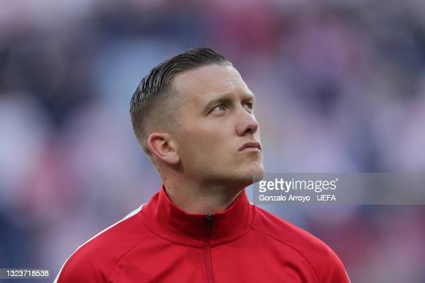 Piotr Zielinski of Poland prior to start the UEFA Euro 2020 Championship Group E match between Poland and Slovakia on June 14, 2021 in Saint...