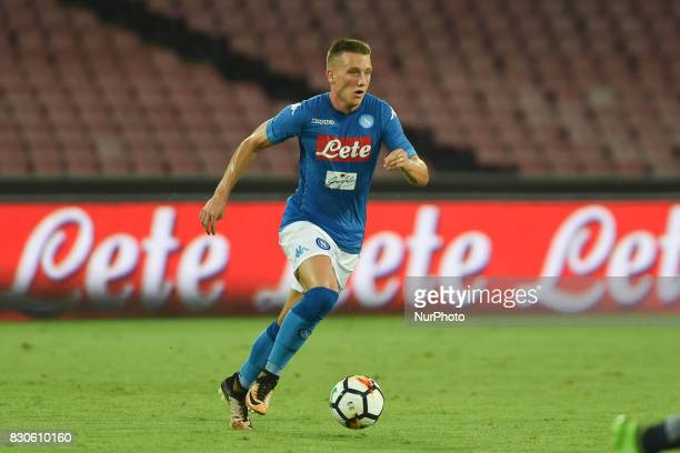 Piotr Zielinski of SSC Napoli during the Preseason Frendly match between SSC Napoli and RCD Espanyol at Stadio San Paolo Naples Italy on 10 August...