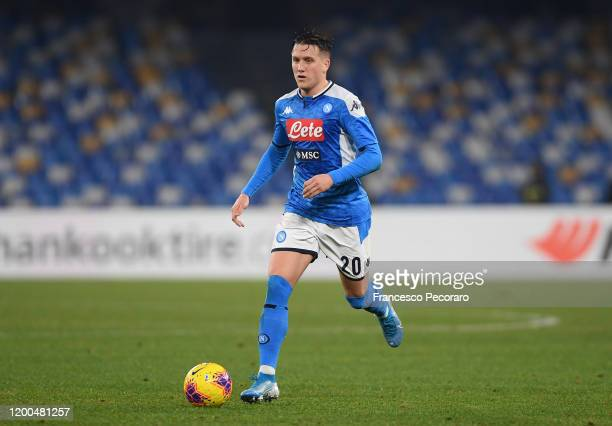 Piotr Zielinski of SSC Napoli during the Serie A match between SSC Napoli and ACF Fiorentina at Stadio San Paolo on January 18, 2020 in Naples, Italy.