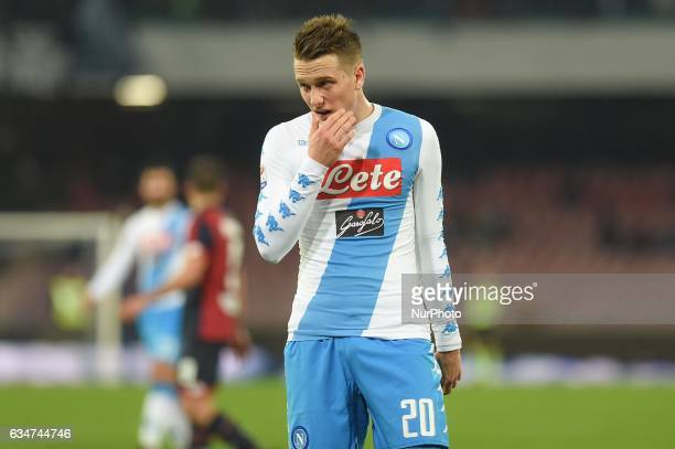 Piotr Zielinski of SSC Napoli during the Serie A TIM match between SSC Napoli and Genoa CFC at Stadio San Paolo Naples Italy on 10 February 2017