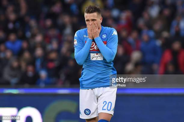 Piotr Zielinski of SSC Napoli during the Serie A TIM match between SSC Napoli and ACF Fiorentina at Stadio San Paolo Naples Italy on 10 December 2017