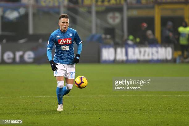 Piotr Zielinski of Ssc Napoli in action during the Serie A football match between FC Internazionale and Ssc Napoli. Fc Internazionale wins 1-0 over...