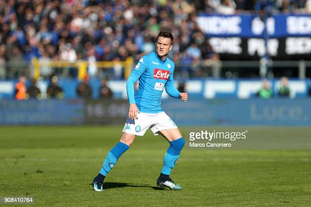 Piotr Zielinski of Ssc Napoli in action during the Serie A football match between Atalanta Bergamasca Calcio and Ssc Napoli Ssc Napoli wins 10 over...