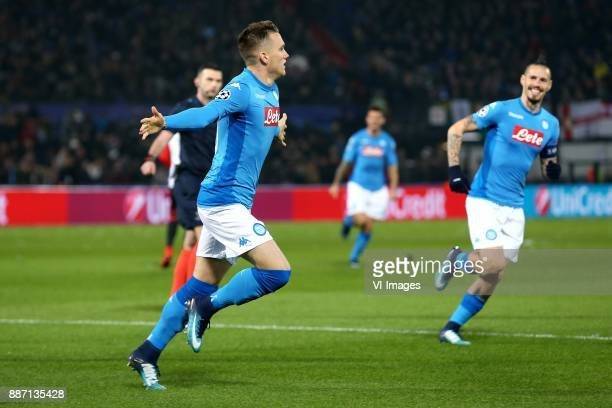 Piotr Zielinski of SSC Napoli Marek Hamsik of SSC Napoli during the UEFA Champions League group F match between Feyenoord Rotterdam and SSC Napoli at...