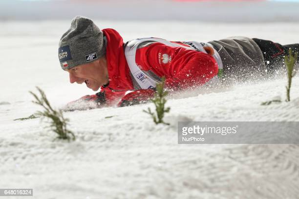 Piotr Zyla during the men's team ski jumping HS130 during the FIS Nordic World Ski Championships on March 4, 2017 in Lahti, Finland.