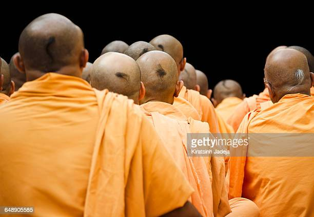 Pious Monks Engrossed In Meditation