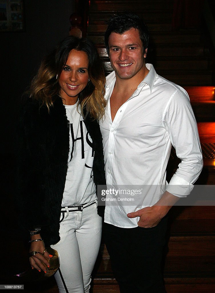 Pip Edwards (L) and Adam Ashley-Cooper arrive for the Chandon Supper Club after party at The ArtHouse on May 20, 2010 in Sydney, Australia.