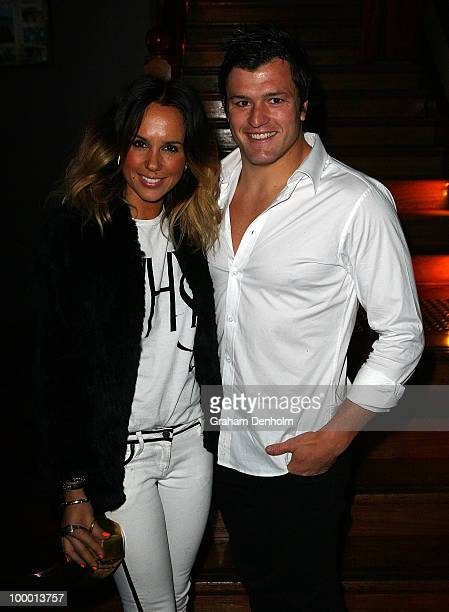 Pip Edwards and Adam AshleyCooper arrive for the Chandon Supper Club after party at The ArtHouse on May 20 2010 in Sydney Australia