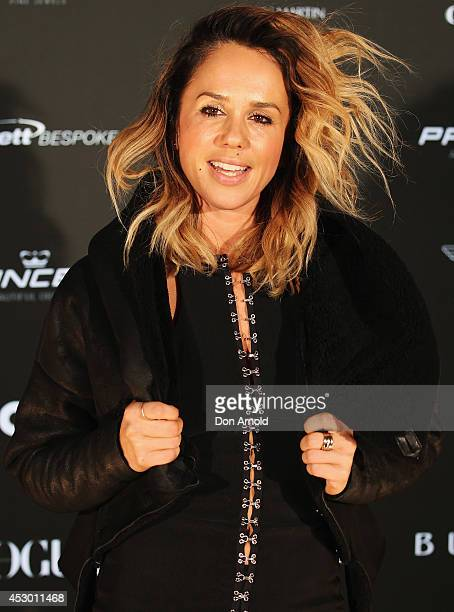 Pip Edwards attends the Princess Yachts launch evening at Rose Bay Marina on August 1 2014 in Sydney Australia