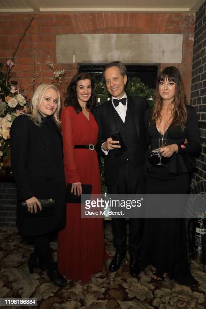 Pip Gill Lucy Bevan Richard E Grant and Olivia Grant pose the Netflix BAFTA after party at Chiltern Firehouse on February 2 2020 in London England
