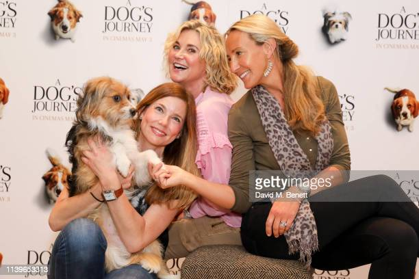 Pipa Tomson Anthea Turner and Guest attend a gala screening of A Dog's Journey at The Soho Hotel on April 27 2019 in London England