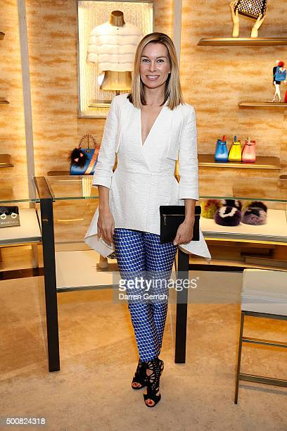 Pipa Vosper attends the Fendi Christmas Party>> on December 10 2015 in London England