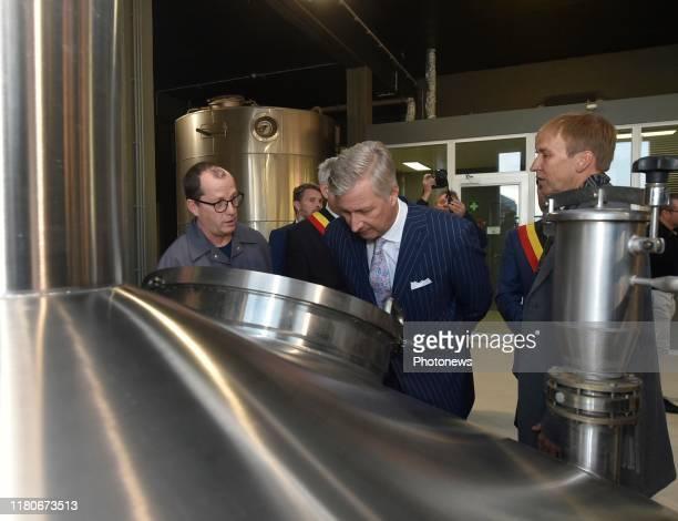 Pipaix Belgium Visite du Roi à la Brasserie Dubuisson à l'occasion des 250 ans d'existence de la plus ancienne brasserie de Belgique Bezoek van de...