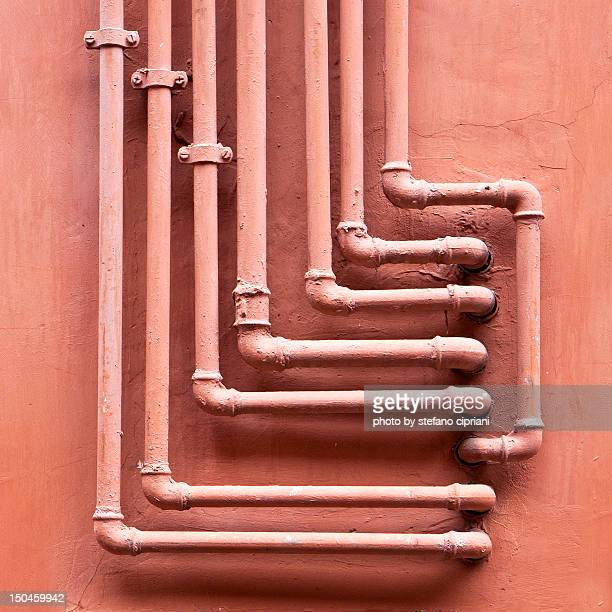 Pipe arranged in line