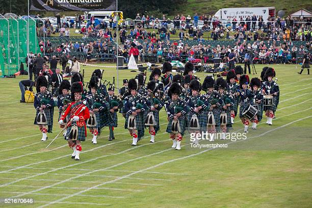 Pipe band at The Braemar Gathering