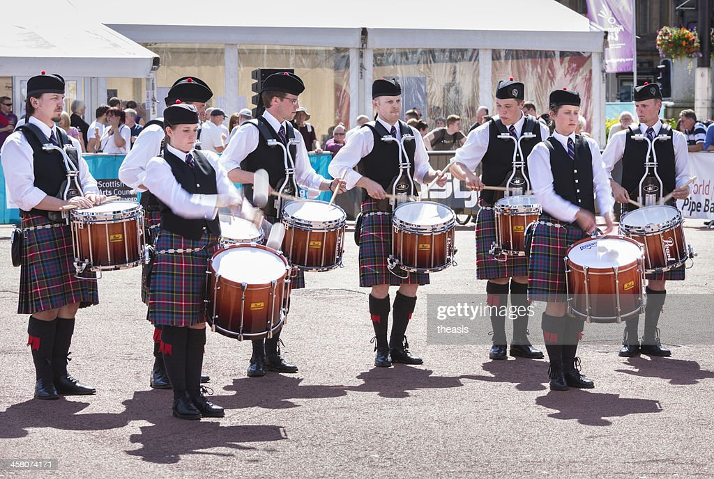 Pipe Band Drummers : Stock Photo