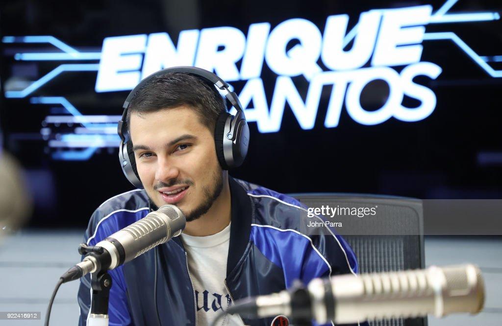 Celebrities Visit The Enrique Santos Show At I Heart Latino Studio