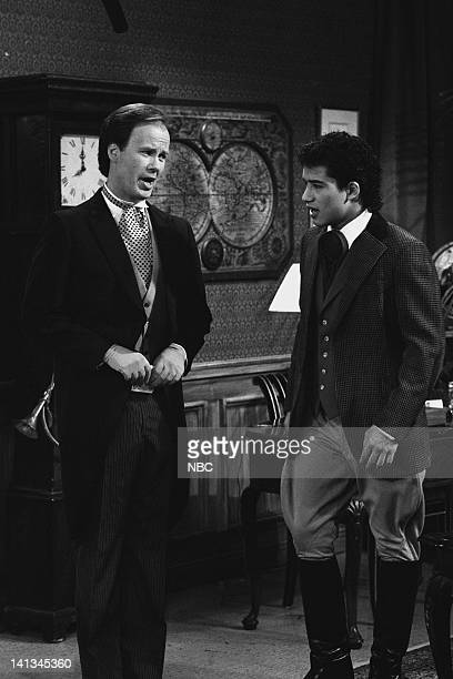 BELL 'Pipe Dreams' Episode 11 Air Date Pictured Dennis Haskins as Mr Richard Belding Mario Lopez as AC Slater Photo by Joseph Del Valle/NBCU Photo...