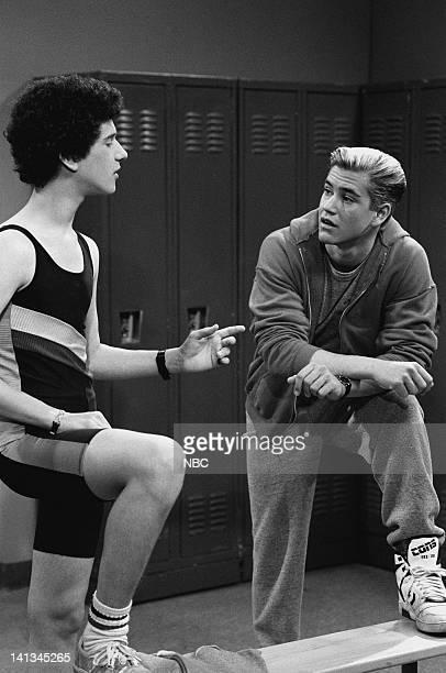 BELL 'Pipe Dreams' Episode 11 Air Date Pictured Dustin Diamond as Screech Powers MarkPaul Gosselaar as Zack Morris Photo by Joseph Del Valle/NBCU...