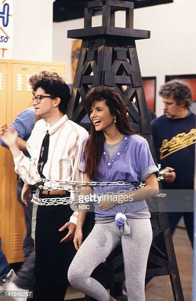BELL 'Pipe Dreams' Episode 11 Air Date Pictured Justin Warfield as student Tiffani Thiessen as Kelly Kapowski Photo by Joseph Del Valle/NBCU Photo...