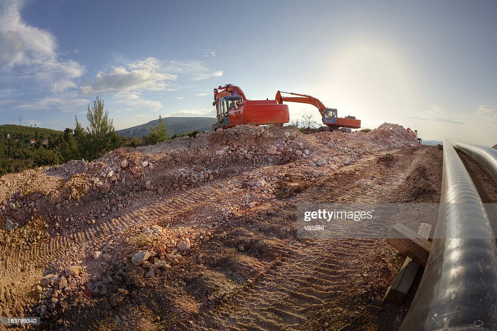Pipe laying : Stock Photo