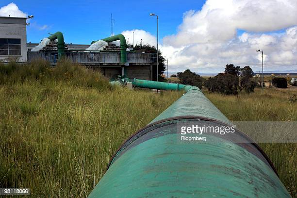 A pipe transports water to the stateowned Empresa Publica Social del Agua y Saneamiento SA water treatment facility in Alto Lima Bolivia on Thursday...