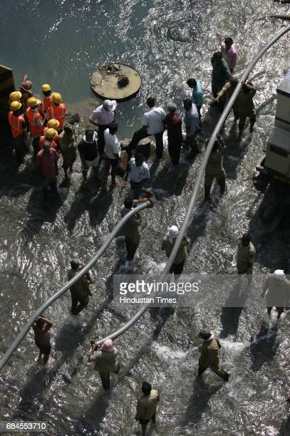 Pipeline Burst Water Wastage Water Shortage A 48inch water pipeline was damaged at Lalbaug on Sunday morning that caused a pipe crack A JCB belonging...