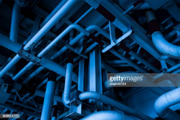 pipeline industry in blue tone color.