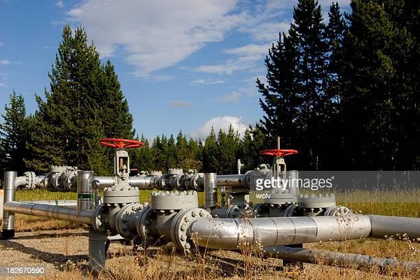 pipeline - air valve stock photos and pictures