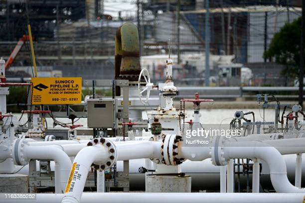 Pipelines and production facilities at the Point Breeze plant of Philadelphia Energy Solutions refinery in South Philadelphia PA on August 8 ahead of...