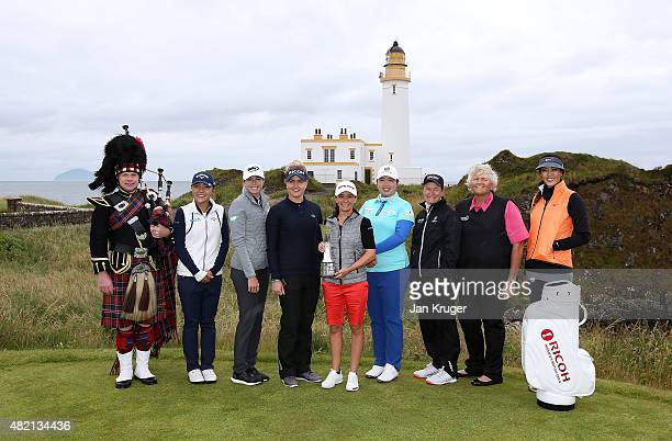 Piper Bryce McCulloch Lydia Ko of New Zealand Paula Creamer of of the United States Charlie Hull of England 2014 Champion Mo Martin of of the United...