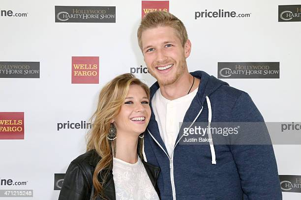 Piper Dean and Michael John attend the 25th Anniversary Pricelinecom Hollywood Charity Horse Show at the Los Angeles Equestrian Center on April 25...