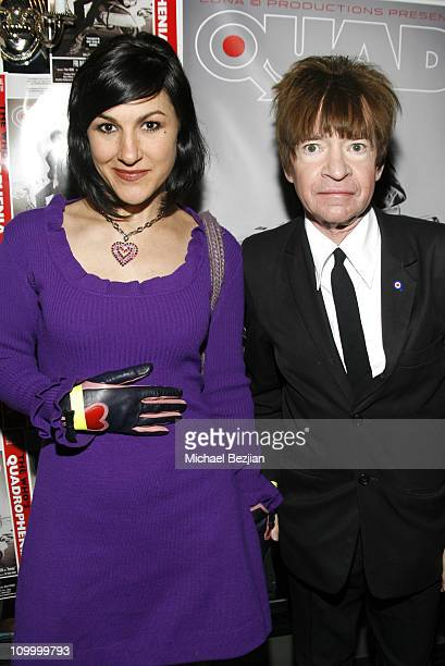 Piper Fergusen and Rodney Bingenheimer during Quadrophenia Musical Theatre Performance at The Avalon in Hollywood California United States