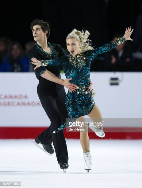 Piper Gilles and Paul Poirer of Canada practice their ice dance routine during the 2018 Canadian Tire National Skating Championships game at the Doug...