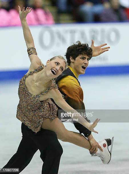 Piper Gilles and Paul Poirier from Central Ontario perform in the Senior Dance Free program at the National Figure Skating Championships Hershey...