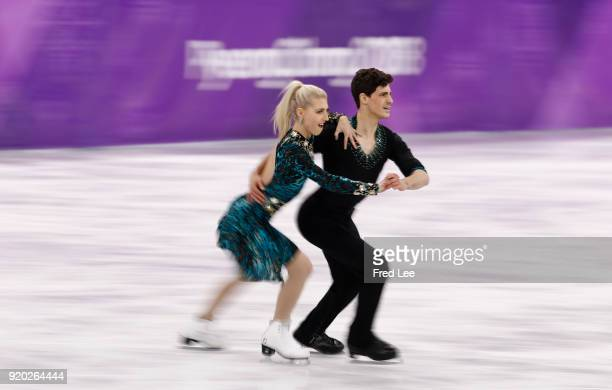 Piper Gilles and Paul Poirier of Canada compete during the Figure Skating Ice Dance Short Dance on day 10 of the PyeongChang 2018 Winter Olympic...