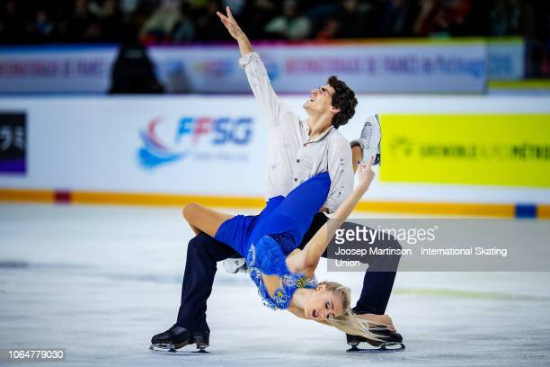 Piper Gilles and Paul Poirier of Canada compete in the Ice Dance Free Dance during day 2 of the ISU Grand Prix of Figure Skating Internationaux de...