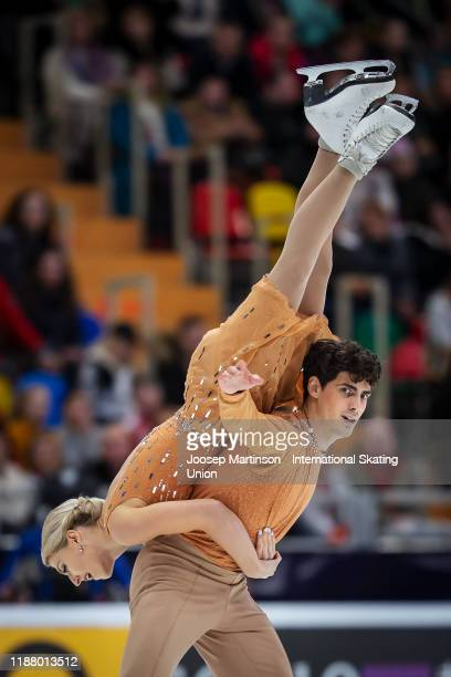 Piper Gilles and Paul Poirier of Canada compete in the Ice Dance Free Dance during day 2 of the ISU Grand Prix of Figure Skating Rostelecom Cup at...