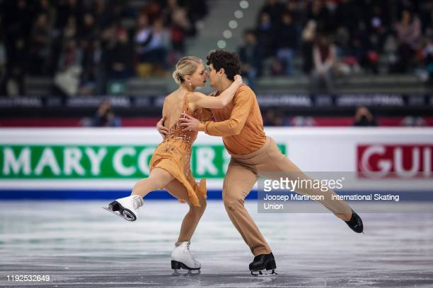 Piper Gilles and Paul Poirier of Canada compete in the Ice Dance Free Dance during the ISU Grand Prix of Figure Skating Final at Palavela Arena on...