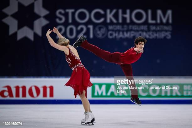 Piper Gilles and Paul Poirier of Canada compete in the Ice Dance Free Dance during day four of the ISU World Figure Skating Championships at Ericsson...