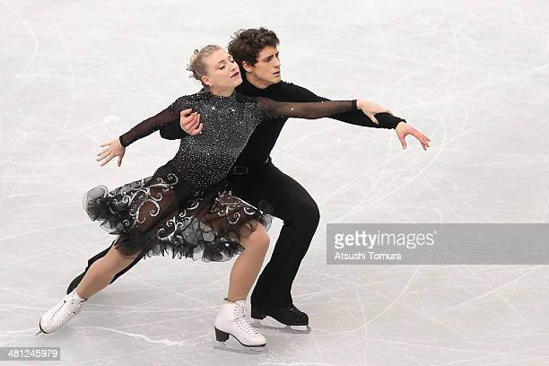 Piper Gilles and Paul Poirier of Canada compete in the Ice Dance Free Dance during ISU World Figure Skating Championships at Saitama Super Arena on...