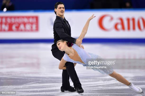 Piper Gilles and Paul Poirier of Canada compete in the Ice Dance Free Dance during ISU Four Continents Figure Skating Championships Gangneung Test...