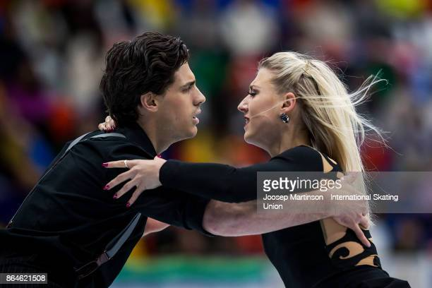 Piper Gilles and Paul Poirier of Canada compete in the Ice Dance Free Dance during day two of the ISU Grand Prix of Figure Skating Rostelecom Cup at...
