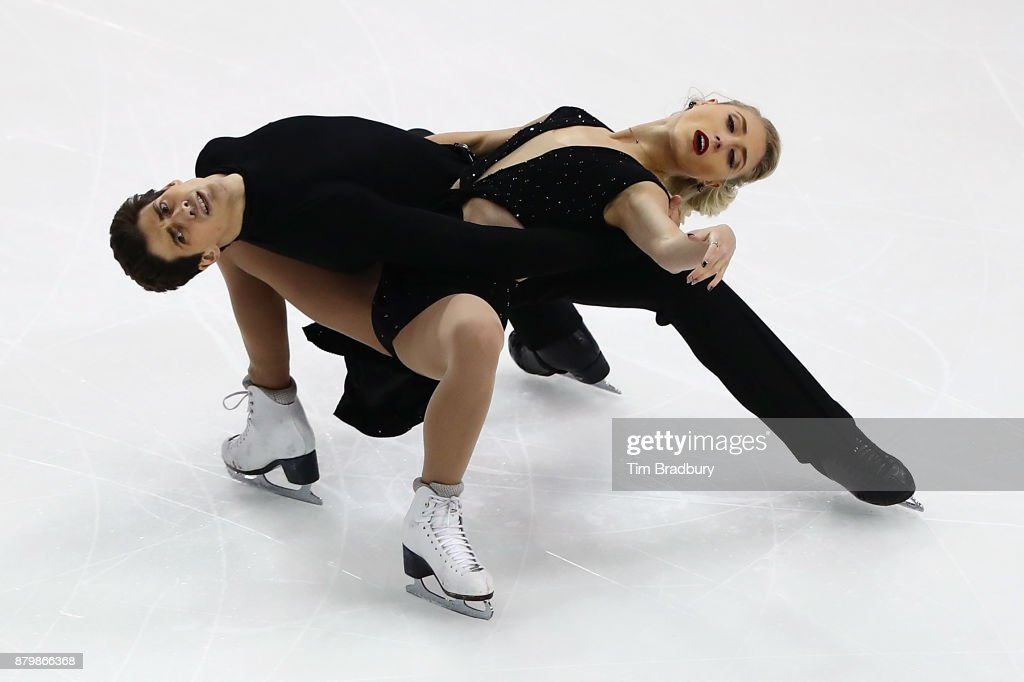 Piper Gilles and Paul Poirier of Canada compete in the Ice Dance Free Dance during day three of 2017 Bridgestone Skate America at Herb Brooks Arena on November 26, 2017 in Lake Placid, New York.